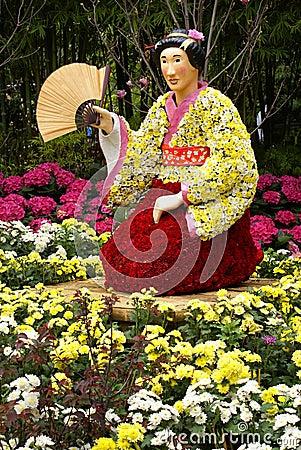 Flower japanese geisha