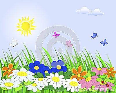 Flower landscape.