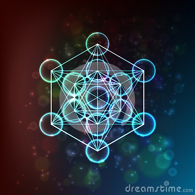 Flower of Life. Sacred Geometry. Symbol of Harmony and Balance. Vector Vector Illustration