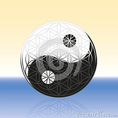 Flower of Life Yin Yang Spheres