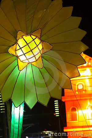Flower of light at night