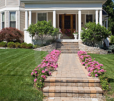 Low Front Porch Landscaping