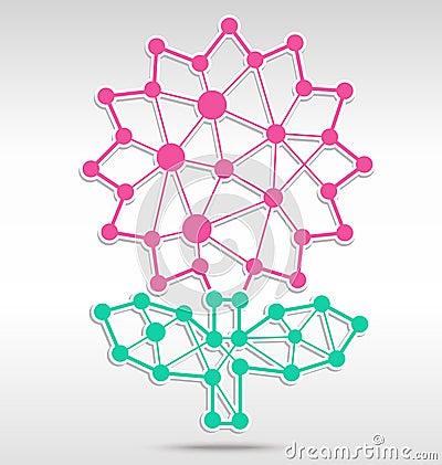 Flower linkage Vector Illustration