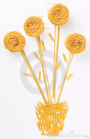 Free Flower Made Of Pasta Royalty Free Stock Photo - 2281795