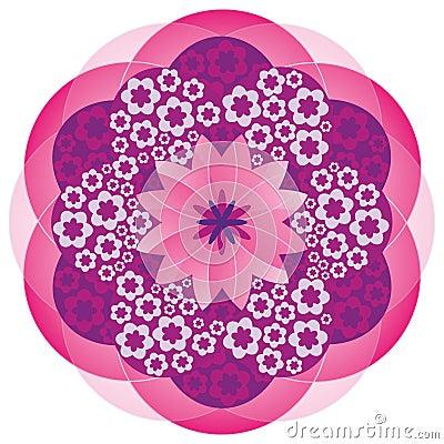 Flower Mandala in Pink Colors