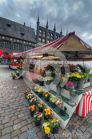 Flower Market. Lubeck