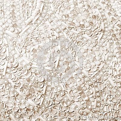 Flower mosaic background texture