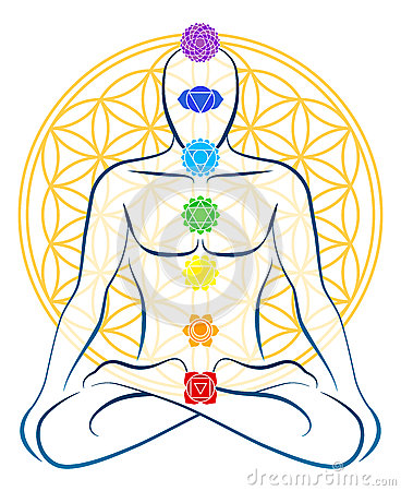Free Flower Of Life Chakras Man Stock Image - 40405841