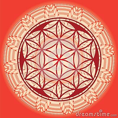 Free Flower Of Life Seed Mandala Royalty Free Stock Photography - 28462227