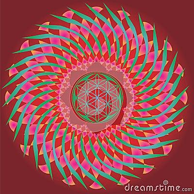 Free Flower Of Life Seed Spring Mandala Royalty Free Stock Photo - 28462185