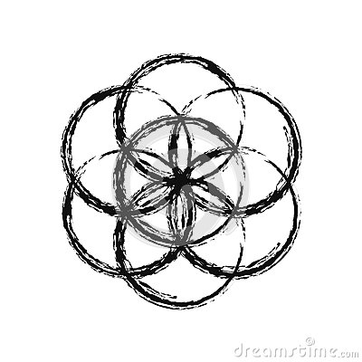 Free Flower Of Life, Vector. Royalty Free Stock Images - 62926539