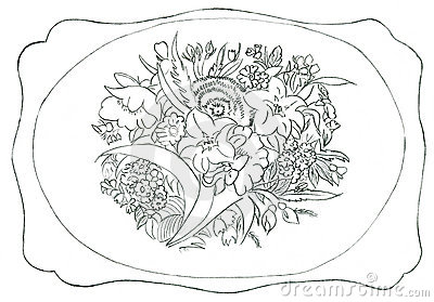 Flower ornament - hand drawn illustration