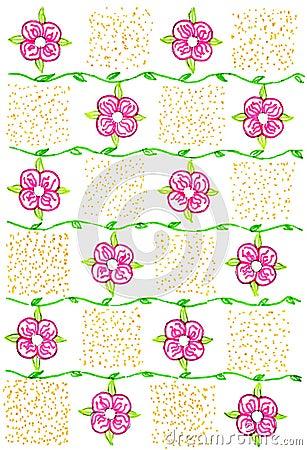 Flower ornament - hand drawn illustration