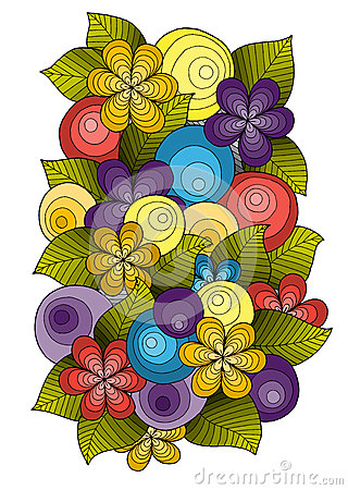 Free Flower Ornament, Template Design. Floral Mandala. Hand Drawn Ink Pattern Made By Trace From Sketch. Royalty Free Stock Photography - 72223157