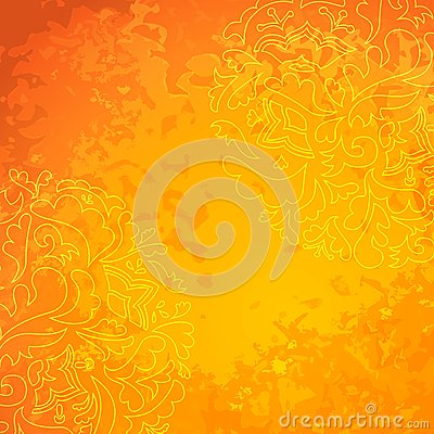 Flower ornamental gold pattern background.