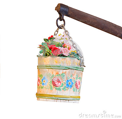 Flower pail hanging