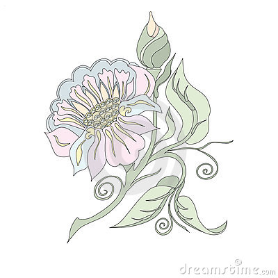 Flower in pastel shades