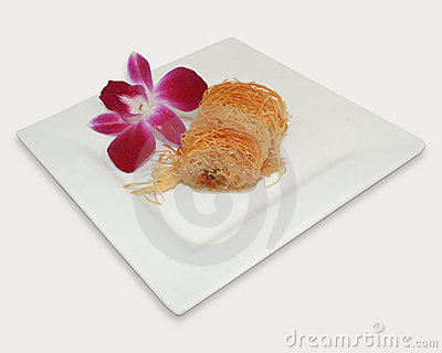 Flower and pastry