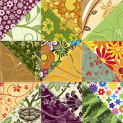 Free Flower Patchwork Royalty Free Stock Photos - 7337898