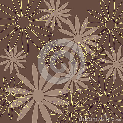 Flower pattern brown background