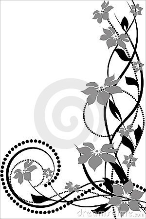 Flower pattern decoratively