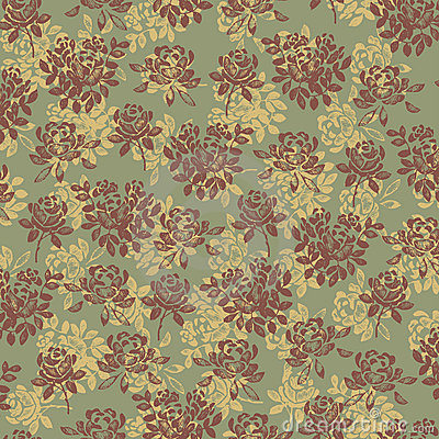 Flower pattern green