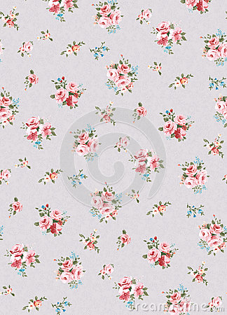 Flower pattern, hand-painted flowers, watercolor flowers Stock Photo