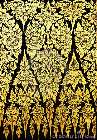 Free Flower Pattern In Traditional Thai Style Art Stock Images - 16791714
