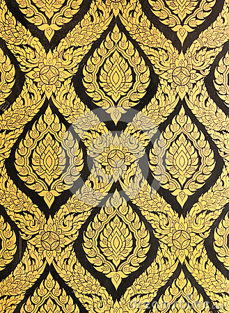 Free Flower Pattern In Traditional Thai Style Art Paint Royalty Free Stock Image - 26247046