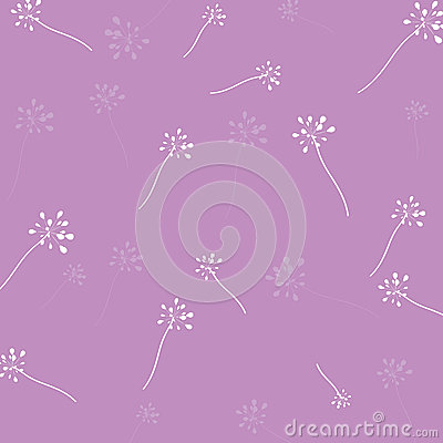 Flower pattern purple background