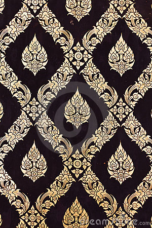 Flower pattern in traditional Thai style art