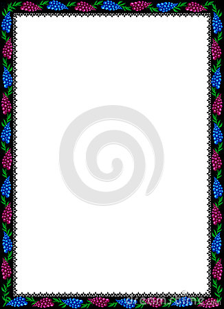 Flower patterns background frame