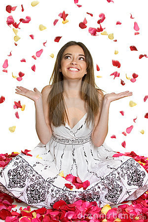 Free Flower Petals Woman Royalty Free Stock Images - 4368209
