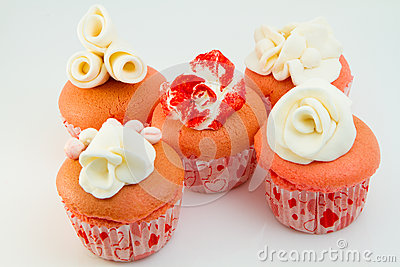 Flower Pink Cupcakes