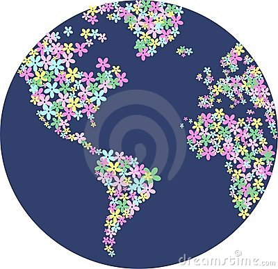 Free Flower Planet Royalty Free Stock Photography - 15520917