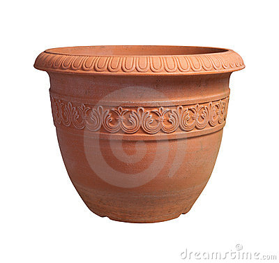 Flower Pot with clipping path