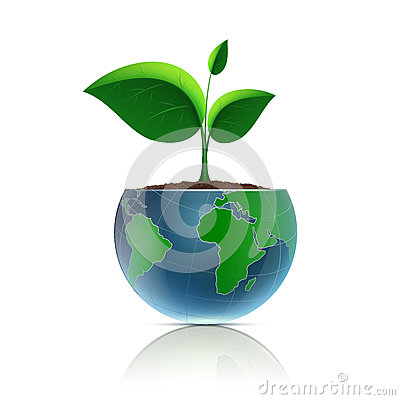 Free Flower Pot In The Form Of The Planet Earth. Royalty Free Stock Image - 65562766