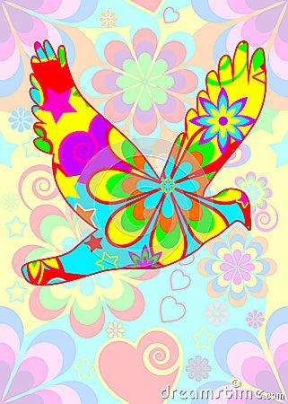 Flower power dove