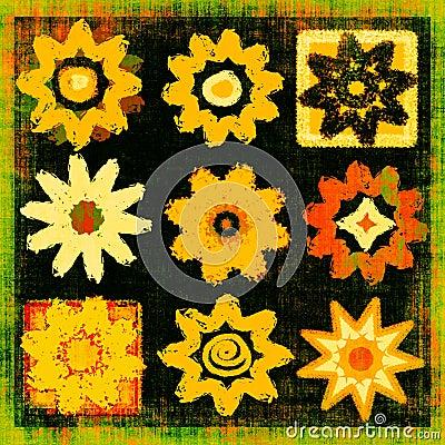 Flower Power Pop Art Grunge