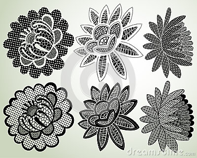 Lacy flower elements