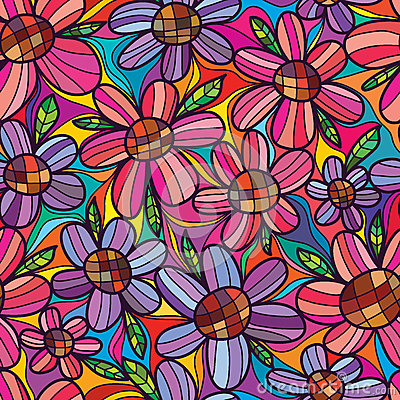 Free Flower Rely Flower Seamless Pattern Stock Image - 67369591