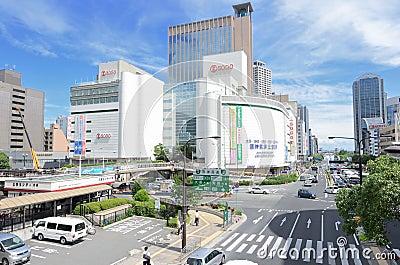 Flower Road in Sannomiya, Kobe, Japan Editorial Photography