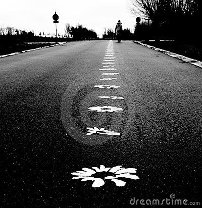 Flower road to happiness