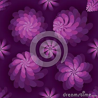 Free Flower Rotate Windmill Purple Mist Seamless Pattern Royalty Free Stock Photography - 67957377