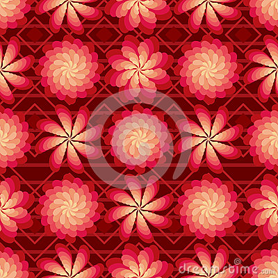 Free Flower Rotate Windmill Red Bright Seamless Pattern Royalty Free Stock Photography - 67958517