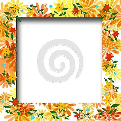 Flower scrapbook frame