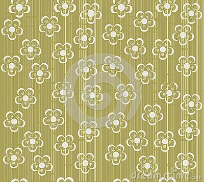 Flower seamless background design in vector