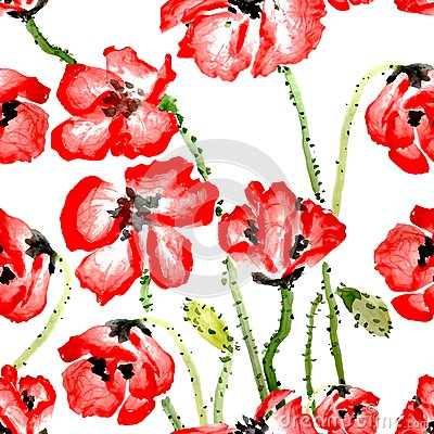 Free Flower Seamless Pattern Stock Photos - 41665963