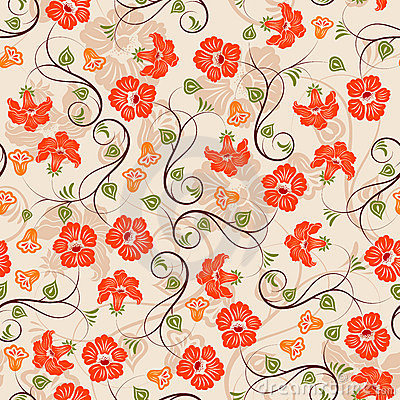 Free Flower Seamless Pattern Royalty Free Stock Photo - 5264925