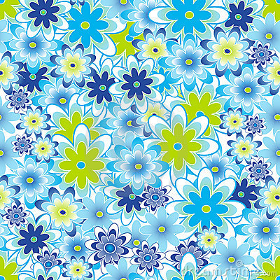 Flower seamless tile